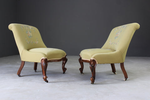 antique nursing chairs pair