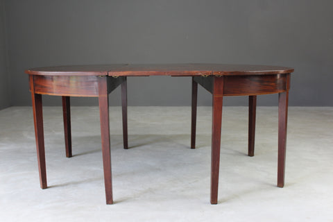 antique mahogany d end dining table