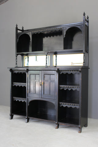 victorian ebonised aesthetic movement sideboard dresser cabinet