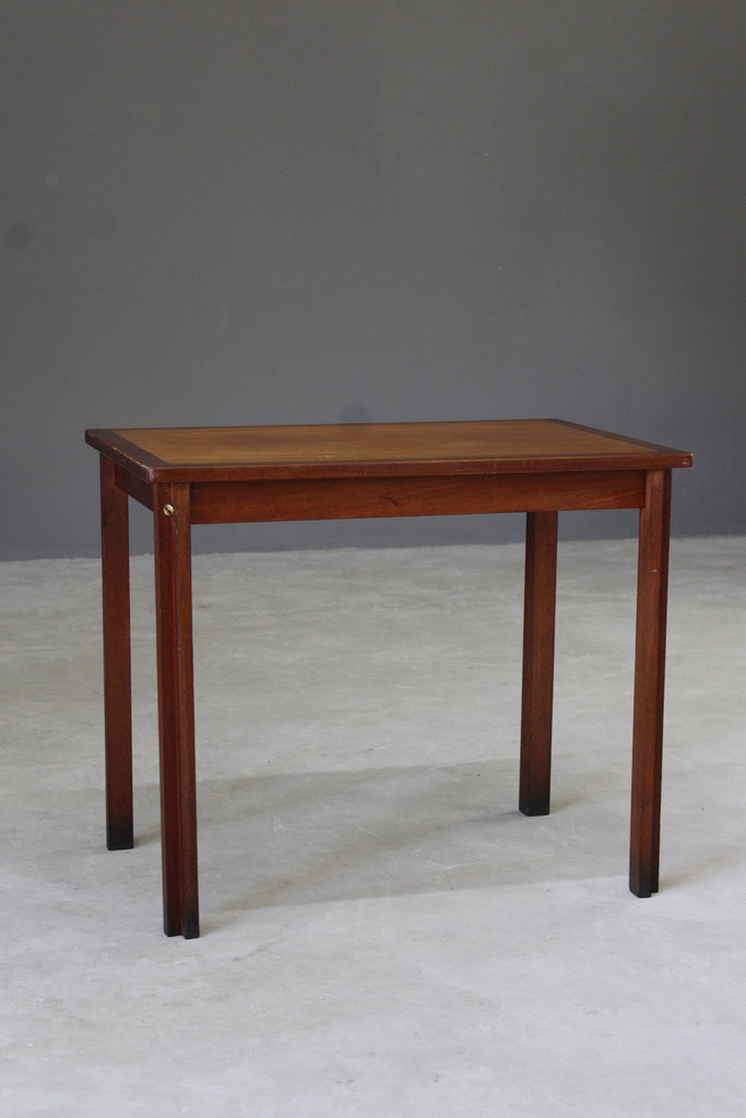 retro teak side end occasional table
