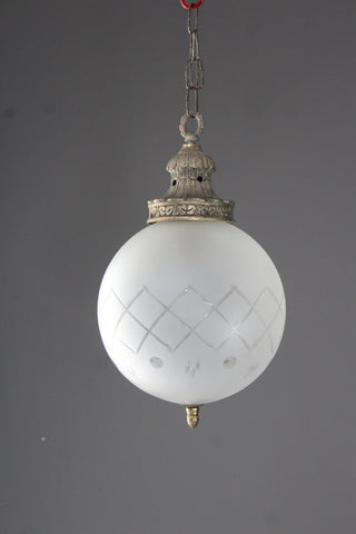 antique globe light chandelier pendant