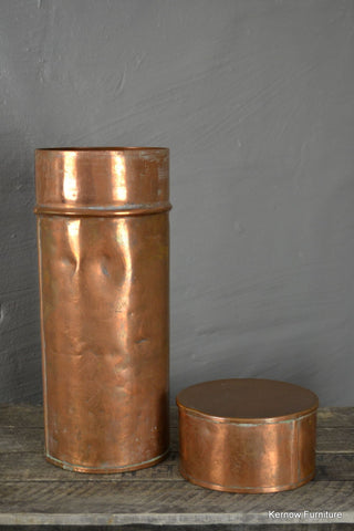 Antique Copper Canister - Kernow Furniture 100s vintage, retro & antique items in stock