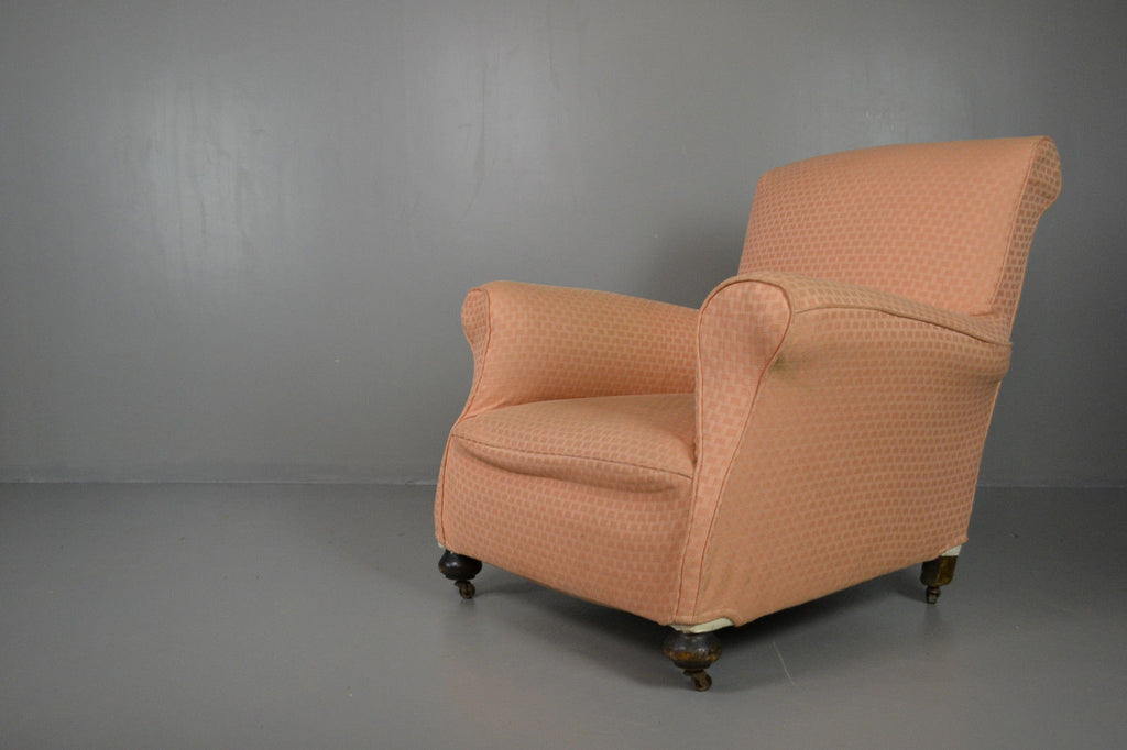 Antique Howard Style Armchair - vintage retro and antique furniture