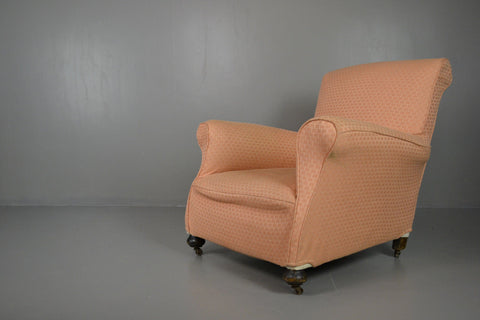 Antique Howard Style Armchair - Kernow Furniture 100s vintage, retro & antique items in stock