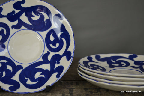 4 Royal Cauldon Blue Scroll Saucers - Kernow Furniture 100s vintage, retro & antique items in stock