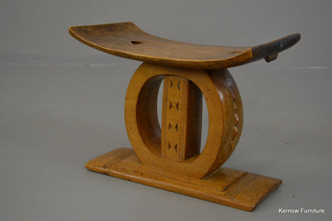 African Ashanti Asante Carved Wooden Tribal Stool Art - Kernow Furniture 100s vintage, retro & antique items in stock