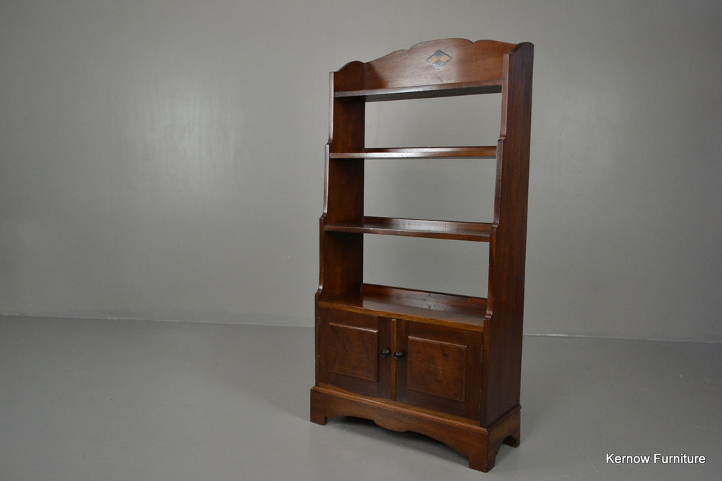 Small Mahogany Bookcase Shelving Unit - Kernow Furniture 100s vintage, retro & antique items in stock