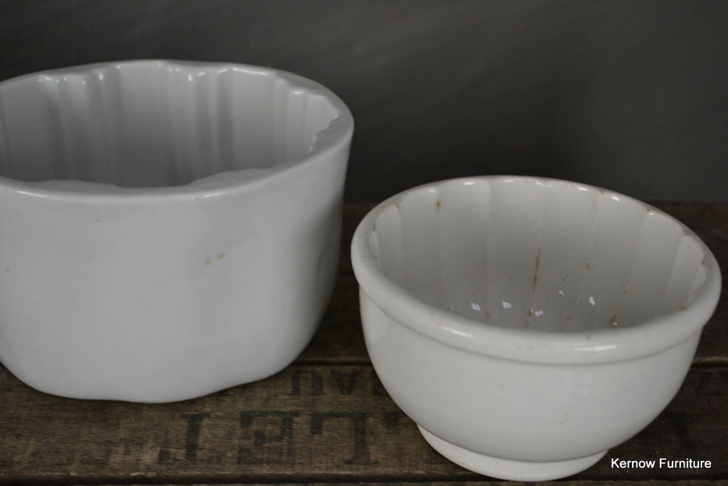 Pair Vintage Jelly Moulds - Kernow Furniture