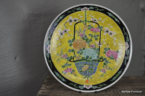 Japanese Oriental Black & Yellow Charger - Kernow Furniture 100s vintage, retro & antique items in stock