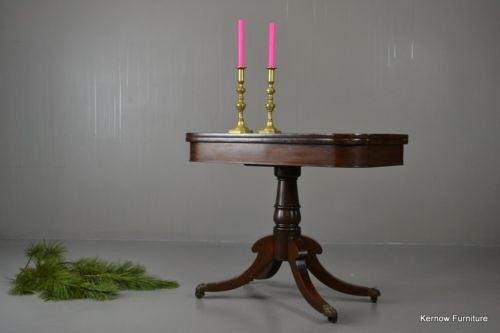 19th Century Mahogany Card Games Table - Kernow Furniture 100s vintage, retro & antique items in stock