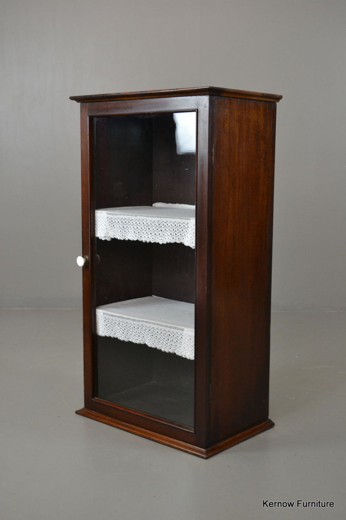 Edwardian Mahogany Glazed Cabinet - Kernow Furniture 100s vintage, retro & antique items in stock