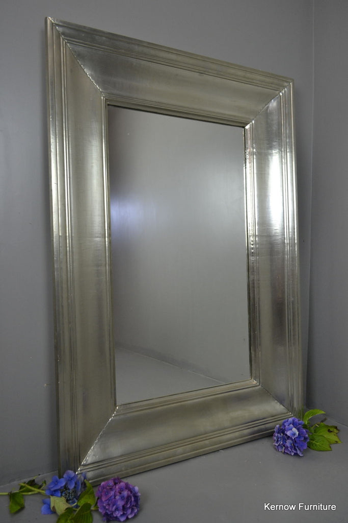 Large White Metal Overmantle Mirror - Kernow Furniture 100s vintage, retro & antique items in stock