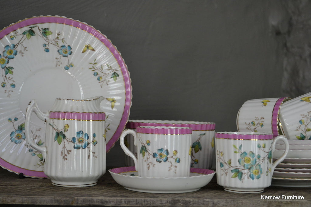 Handpainted Floral China Tea Set - Kernow Furniture 100s vintage, retro & antique items in stock