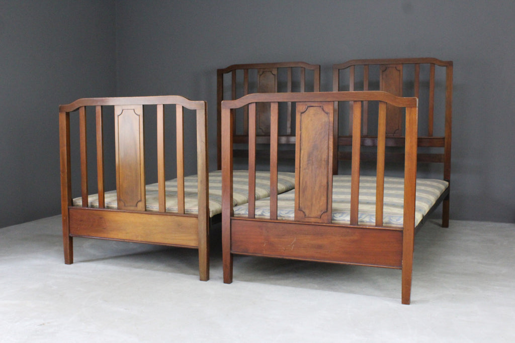 pair antique 3ft single bed frames