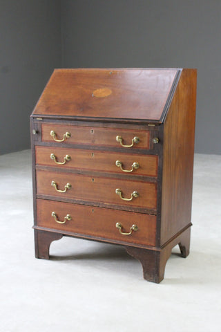 Antique Mahogany Writing Bureau - Kernow Furniture