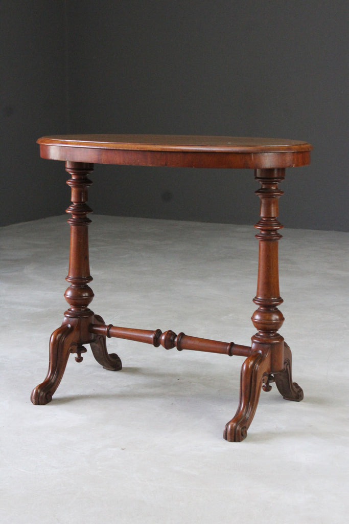 Victorian Mahogany Oval Side Table - Kernow Furniture