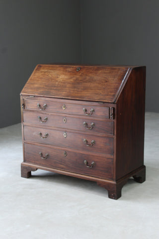 Antique Georgian Writing Bureau - Kernow Furniture