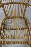 Retro Bamboo Cane Rocking Chair