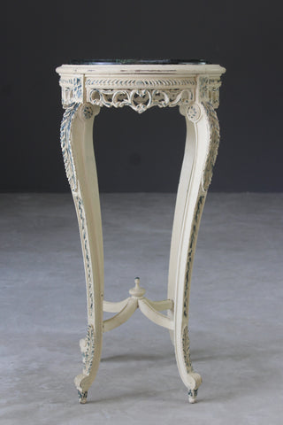 french painted marble top plant stand