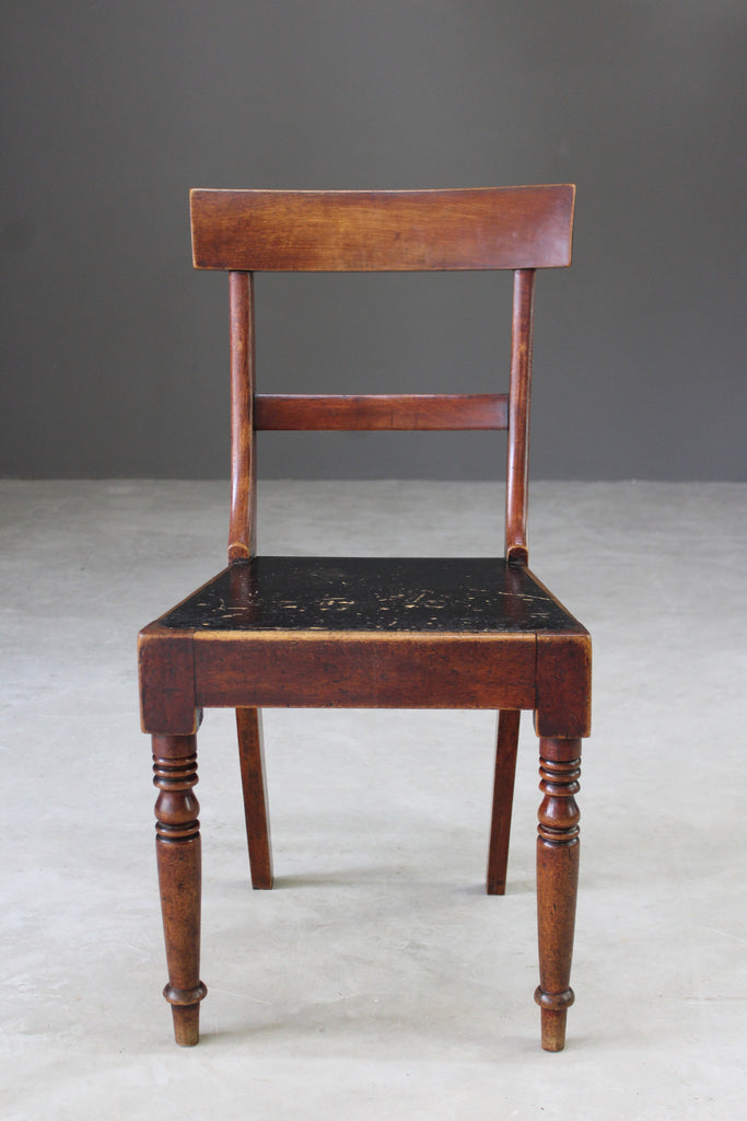 Single Antique Mahogany Bar Back Dining Chair - Kernow Furniture