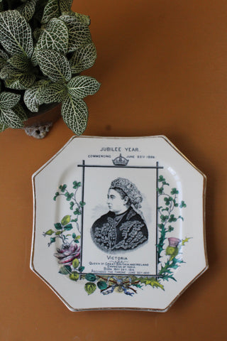 antique victoria jubille plate