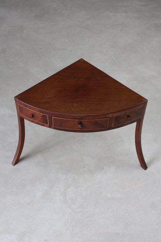 antique mahogany washstand corner table