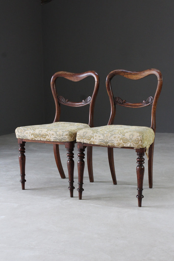 pair antique rosewood dining chairs