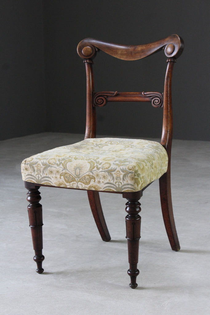 Single Antique Victorian Mahogany Dining Chair - Kernow Furniture