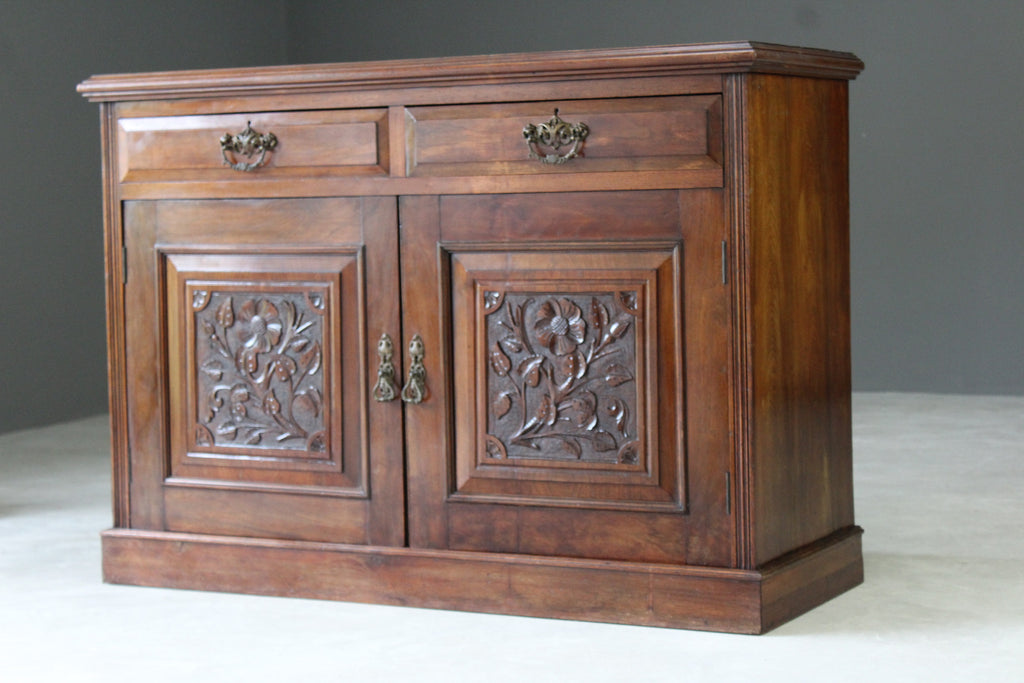 Antique Edwardian Mahogany Sideboard - Kernow Furniture