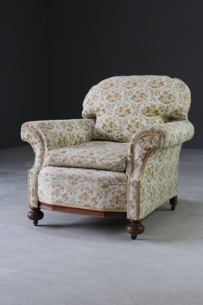 Antique Upholstered Armchair - Kernow Furniture