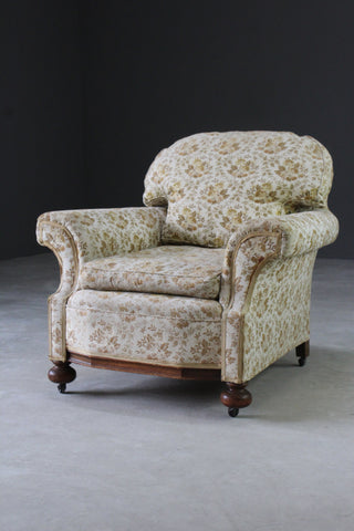 antique upholstered early 20th century armchair chair