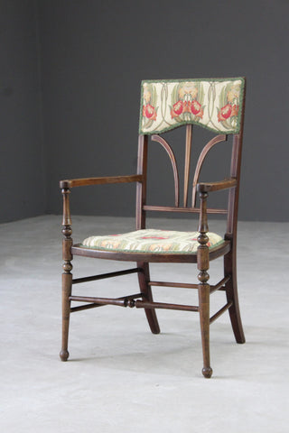 Edwardian Inlaid Occasional Chair - Kernow Furniture