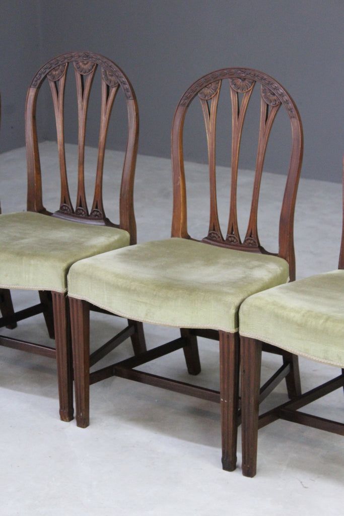 Set 4 Mahogany Dining Chairs - Kernow Furniture