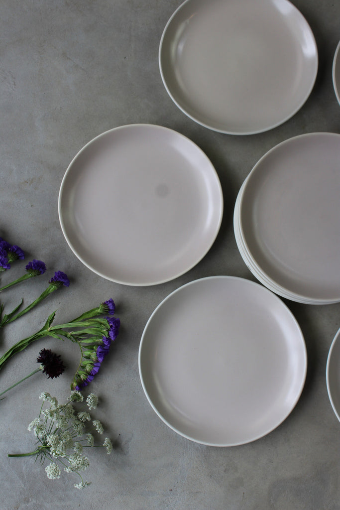12 Poole Pottery Twintone Side Plates - Kernow Furniture