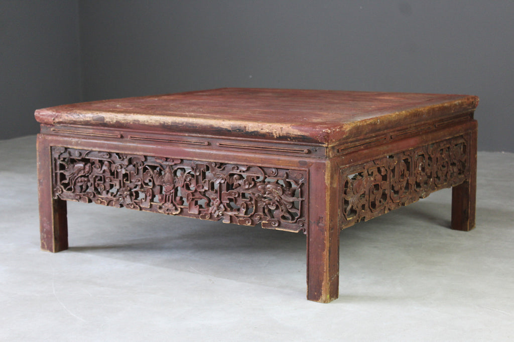 Chinese Large Square Coffee Table - Kernow Furniture