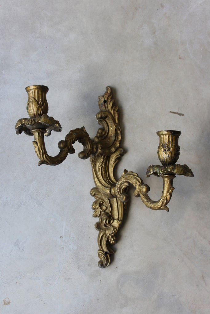 gilt metal french wall sconce candles