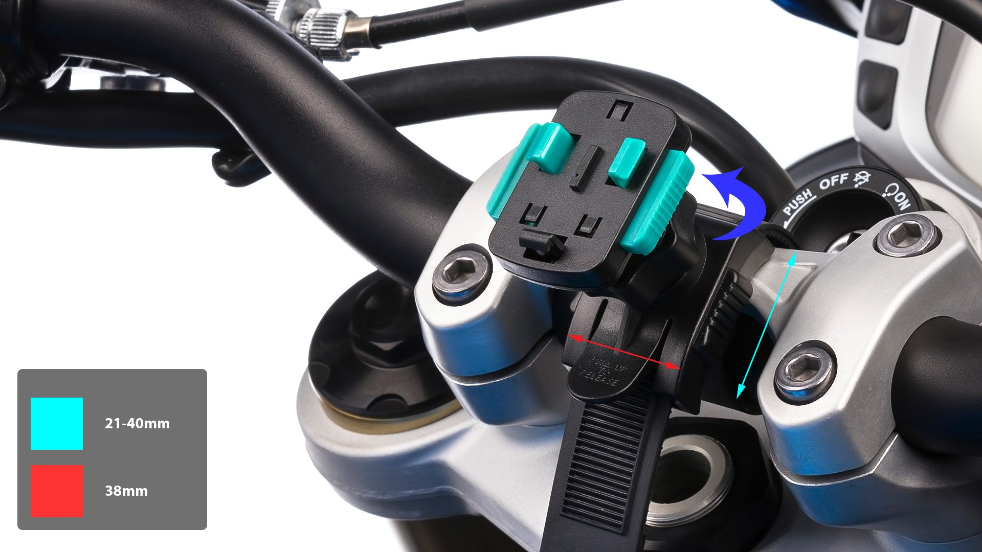 Ultimateaddons Locking Strap Handlebar Attachment