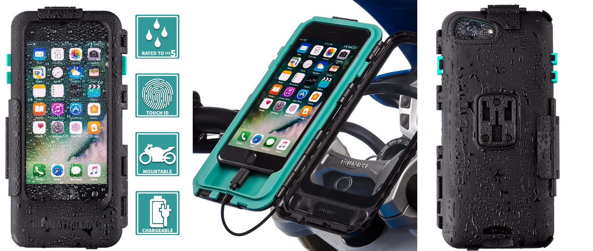 Apple iPhone 7 Plus waterproof motorcycle case