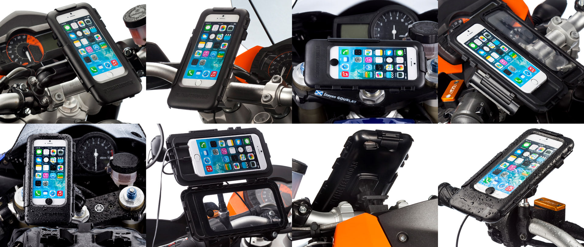 iPhone 6 waterproof tough mount case for motorcycles