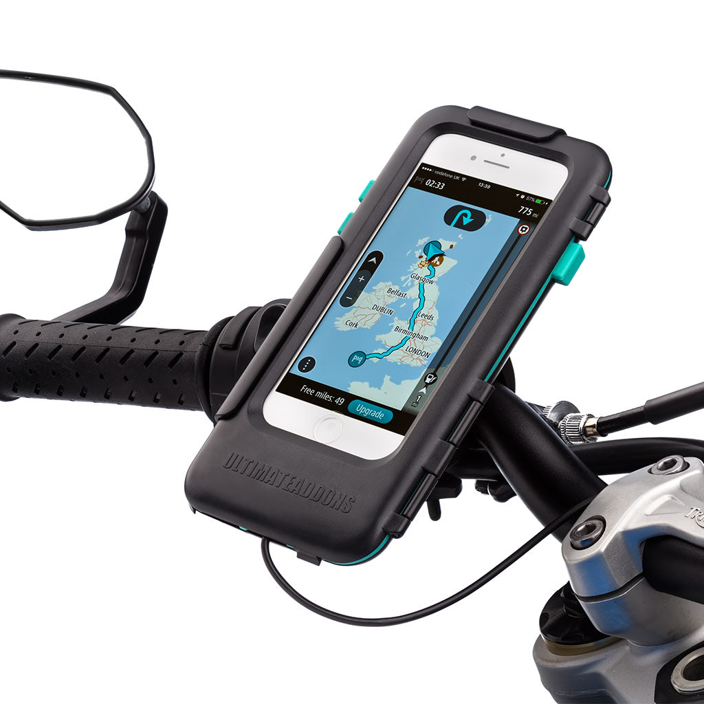 Motorcycle Handlebar Mount Waterproof Tough Case iPhone 6 7 8