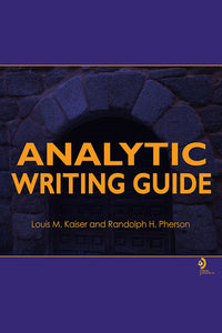 E-book: Analytic Writing Guide, 1st edition (PRINT EDITION SOLD OUT)