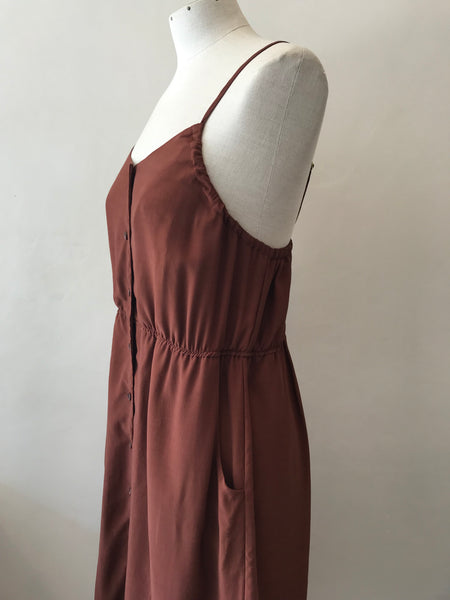 Calla Button Dress