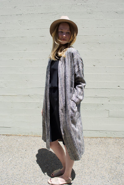 Wrap Coat in Silk