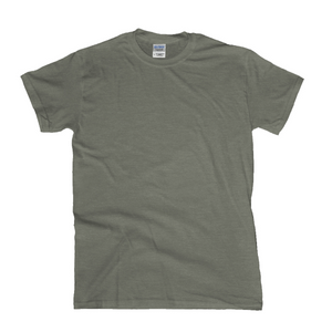 HEATHER MILITARY GREEN | GILDAN 64000