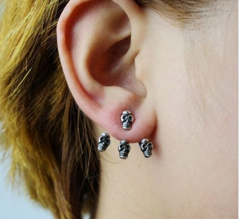 Vintage skull earrings