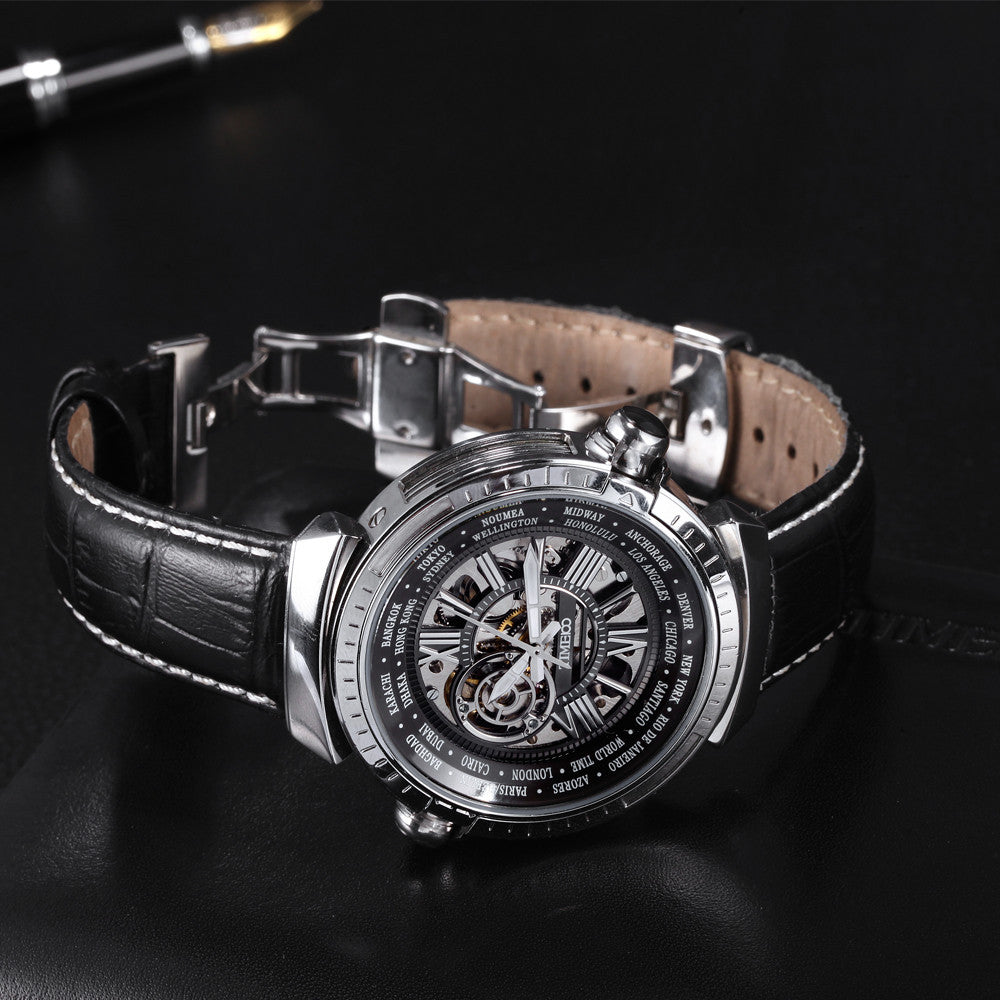 """The elite"" Skeleton Mechanical Watch"