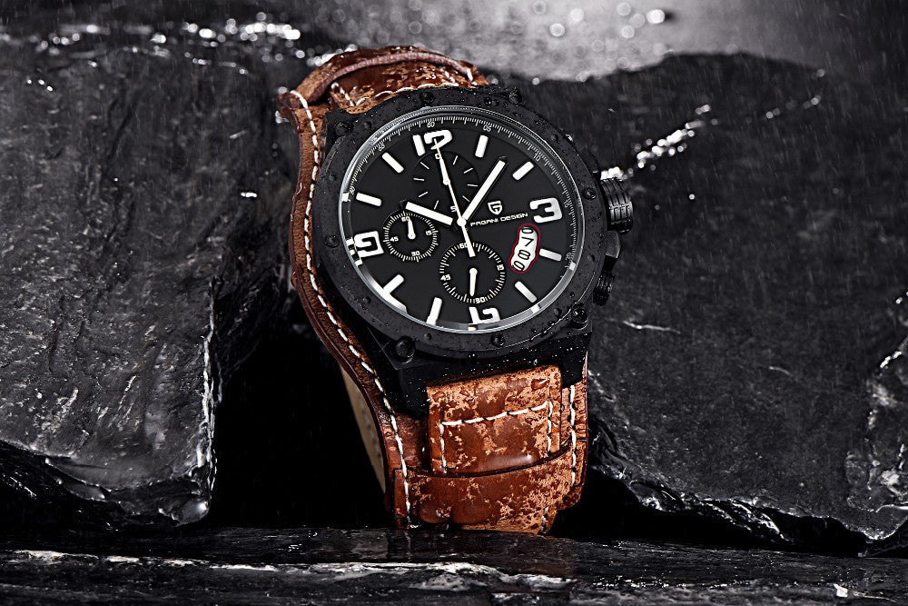 """Rami"" Leather Quartz Wrist Watch"
