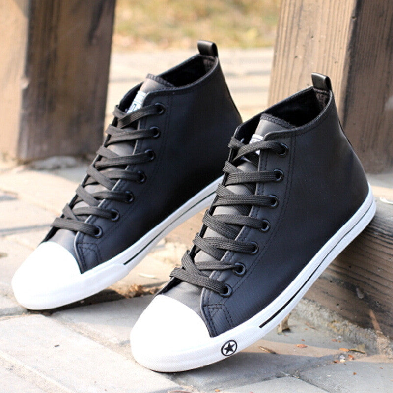 CS Black & White High Tops Leather  All Star Mens Shoes