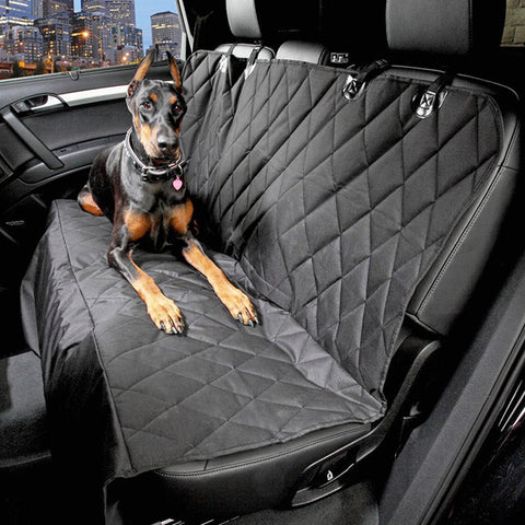 Pauraque Dog Seat Cover for Cars - Black, WaterProof,Slip-proof & Hammock Convertible