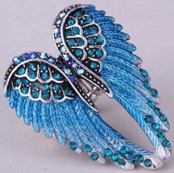 Angel Crystal Wing Ring